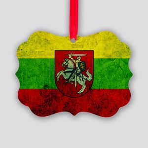 Lithuania Flag Picture Ornament