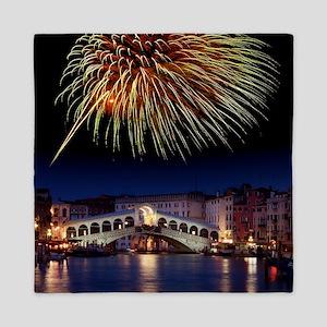Fireworks display, Venice Queen Duvet