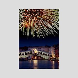 Fireworks display, Venice Rectangle Magnet