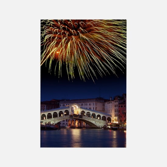 Fireworks display, Venice Rectangle Magnet