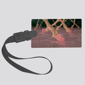 Fibrin strands, artwork Large Luggage Tag
