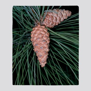 Female pine cones Throw Blanket