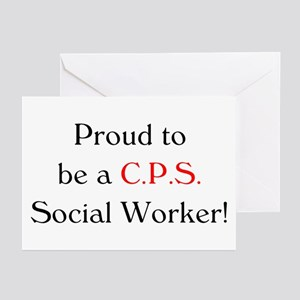 Proud CPS SW Greeting Cards (Pk of 10)