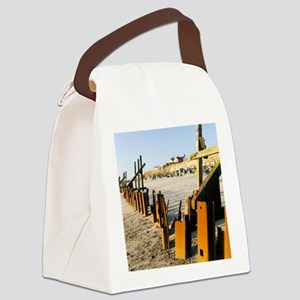 Failed sea defences, Norfolk Canvas Lunch Bag