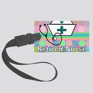 Retired Nurse Serving Tray Blank Large Luggage Tag