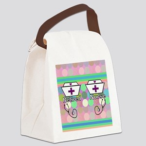 REtired Nurse FF 2 Canvas Lunch Bag