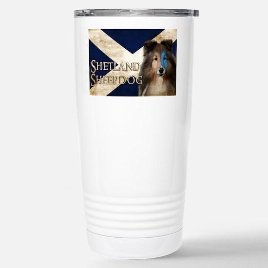 Braveheart Sheltie Stainless Steel Travel Mug