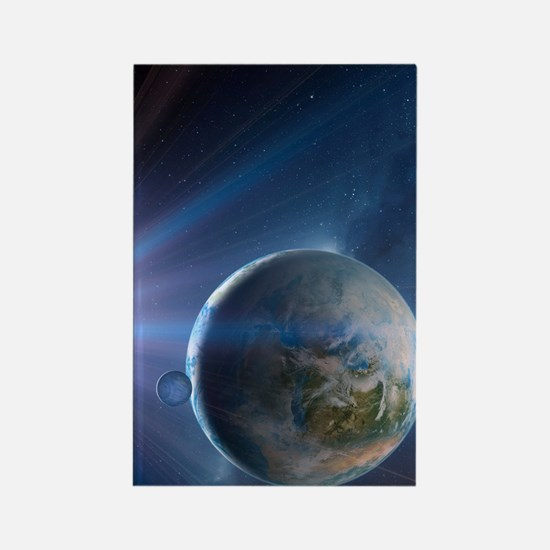 Extrasolar Earth-like planet, art Rectangle Magnet