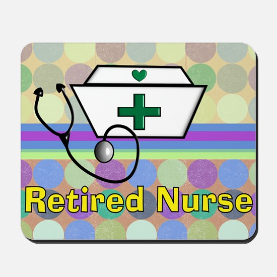 retired nurse serving tray blanket 3 Mousepad