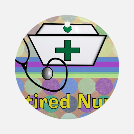 retired nurse serving tray blanket  Round Ornament