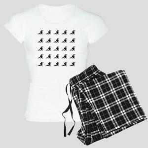 Dachshund tiled Women's Light Pajamas