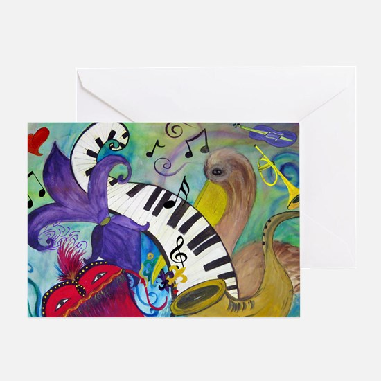 Southern Jazz Greeting Card