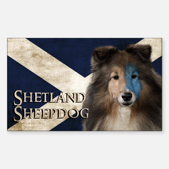 Braveheart Sheltie Sticker (Rectangle)