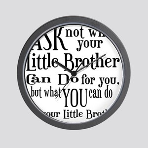ask not little brother Wall Clock