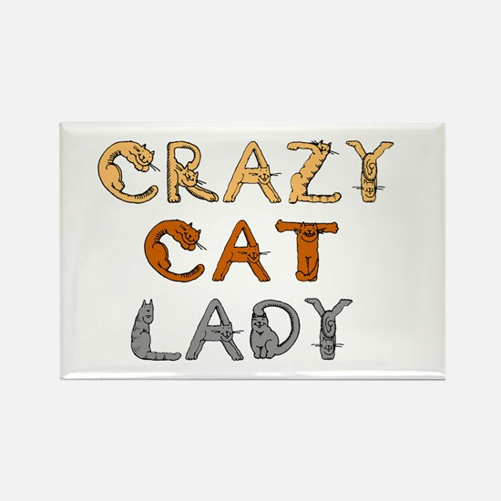Crazy Cat Lady!!! Rectangle Magnet