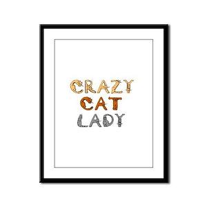 Crazy Cat Lady!!! Framed Panel Print