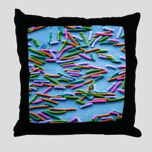 Escherichia coli bacteria, SEM Throw Pillow