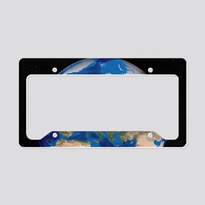 Europe, satellite image License Plate Holder