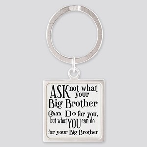 ask not big brother Square Keychain