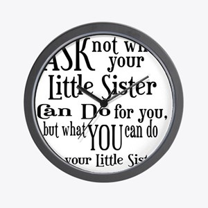 ask not little sister Wall Clock