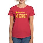 Happiness is MY BIG FAMILY Women's Dark T-Shirt