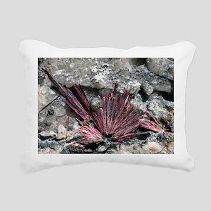 Erythrite crystals Rectangular Canvas Pillow