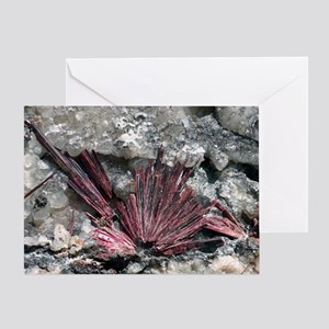 Erythrite crystals Greeting Card