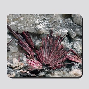 Erythrite crystals Mousepad