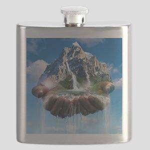 Environmental care, conceptual image Flask