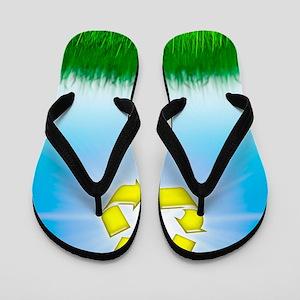 Environmental recycling, conceptual ima Flip Flops