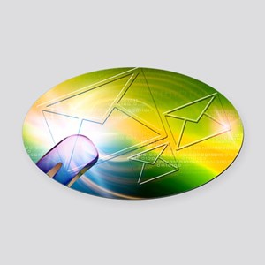 Email, conceptual artwork Oval Car Magnet
