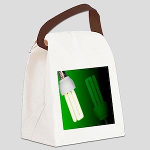 Energy-saving light bulbs, artwor Canvas Lunch Bag