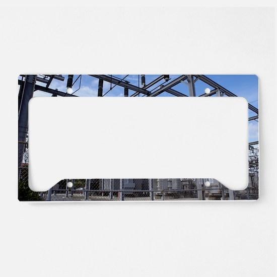 Electricity substation License Plate Holder