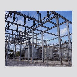 Electricity substation Throw Blanket