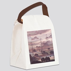 Electricity pylons Canvas Lunch Bag