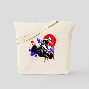 Red Splatter ATV Tote Bag