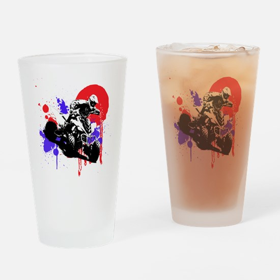 Red Splatter ATV Drinking Glass