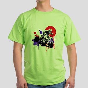 Red Splatter ATV Green T-Shirt