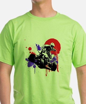 Red Splatter ATV T-Shirt