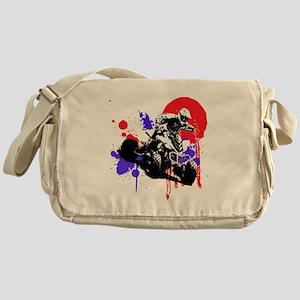 Red Splatter ATV Messenger Bag