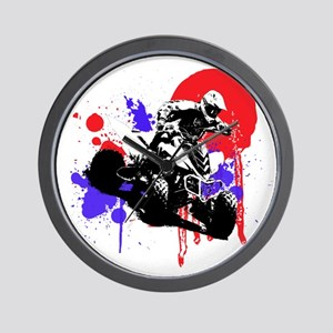 Red Splatter ATV Wall Clock