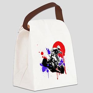 Red Splatter ATV Canvas Lunch Bag