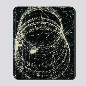 Electron and positron spiralling tracks Mousepad