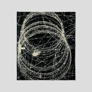 Electron and positron spiralling tra Throw Blanket