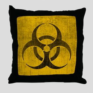 Vintage Biohazard Throw Pillow