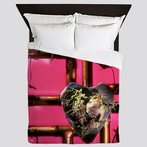 Ecological heart, conceptual image Queen Duvet