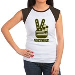 Victory Sign Women's Cap Sleeve T-Shirt
