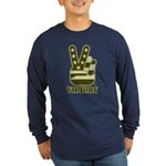 Victory Sign Long Sleeve Dark T-Shirt