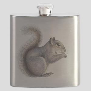 Eastern grey squirrel, artwork Flask