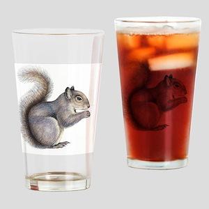 Eastern grey squirrel, artwork Drinking Glass